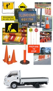 traffic control services signs